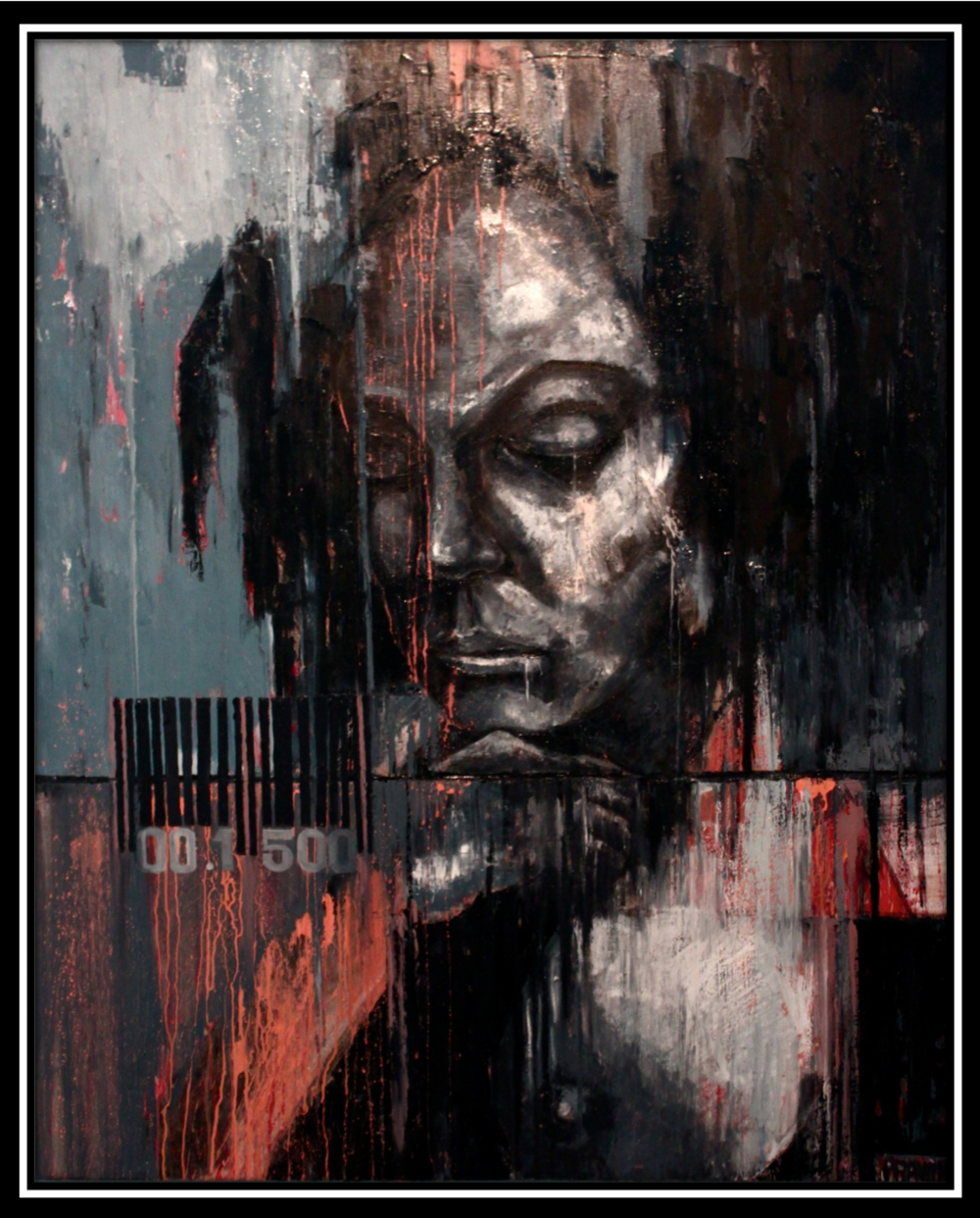 Rawin.artworks - 'The woman' Oil on canvas. 150x120 cm.
