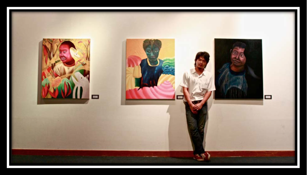 Rawin.artworks - In 2010, 'I think about Thai society' Exhibition at Srinakharinwirot university Gallery.