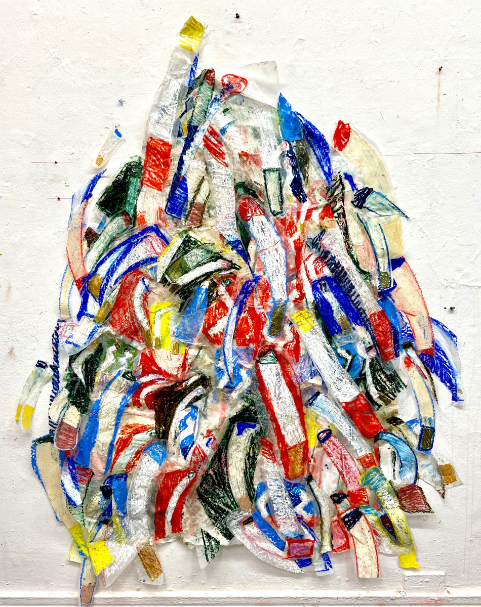 Anna Choutova - Smoke Mountain Oil Bars on Paper180 cm x 120 cm
