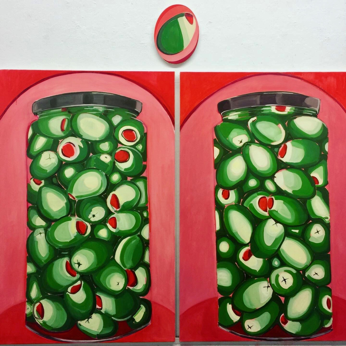 Anna Choutova - Olive Temple Oil on Canvas2 x 180 cm x 120 cm
