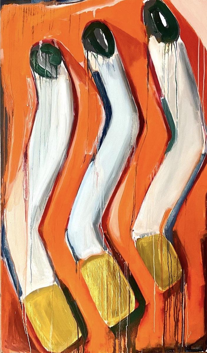 Anna Choutova - Drake Puzzle 4 Oil on Canvas170 cm x 100 cm