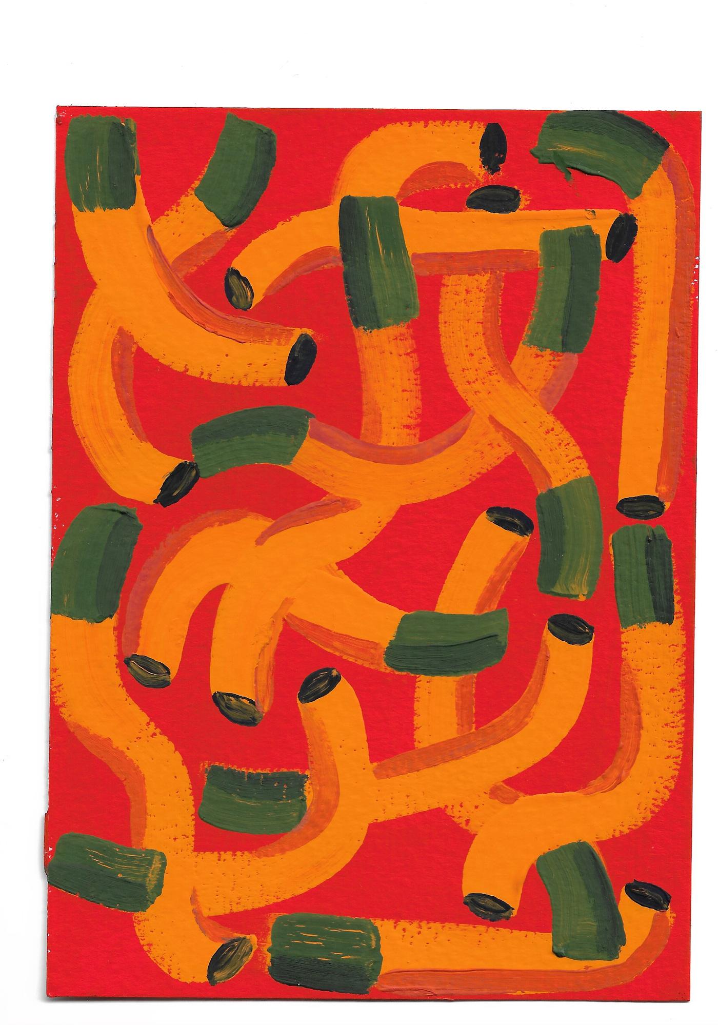 Anna Choutova - Cigarette Fever Dream 10 Gouache on Paper21 cm x 15 cm