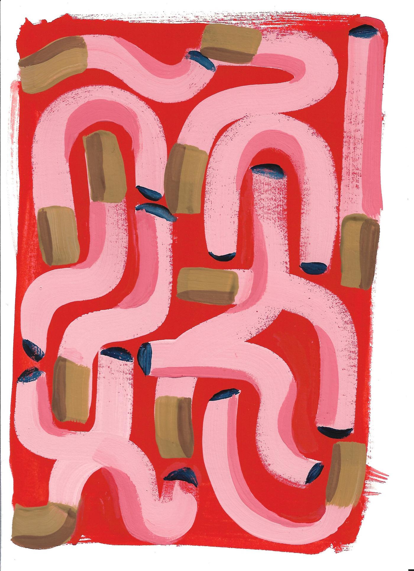 Anna Choutova - Cigarette Fever Dream 11 Gouache on Paper21 cm x 15 cm