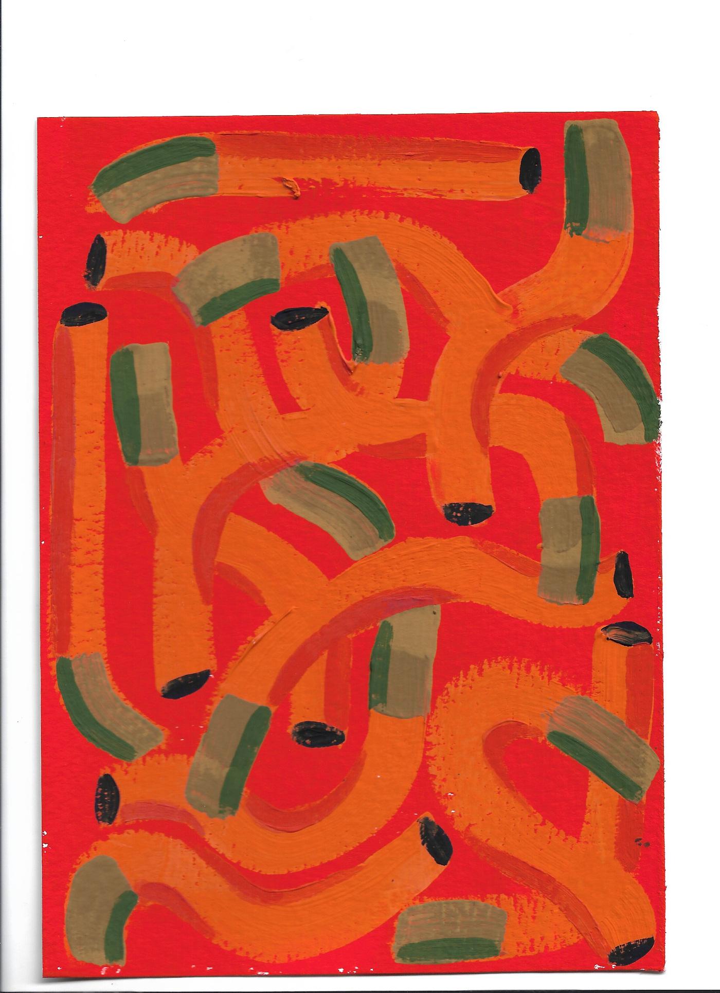 Anna Choutova - Cigarette Fever Dream 13 Gouache on Paper21 cm x 15 cm
