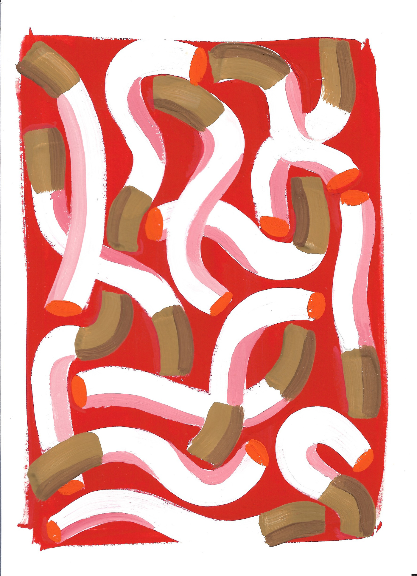 Anna Choutova - Cigarette Fever Dream 9 Gouache on Paper21 cm x 15 cm