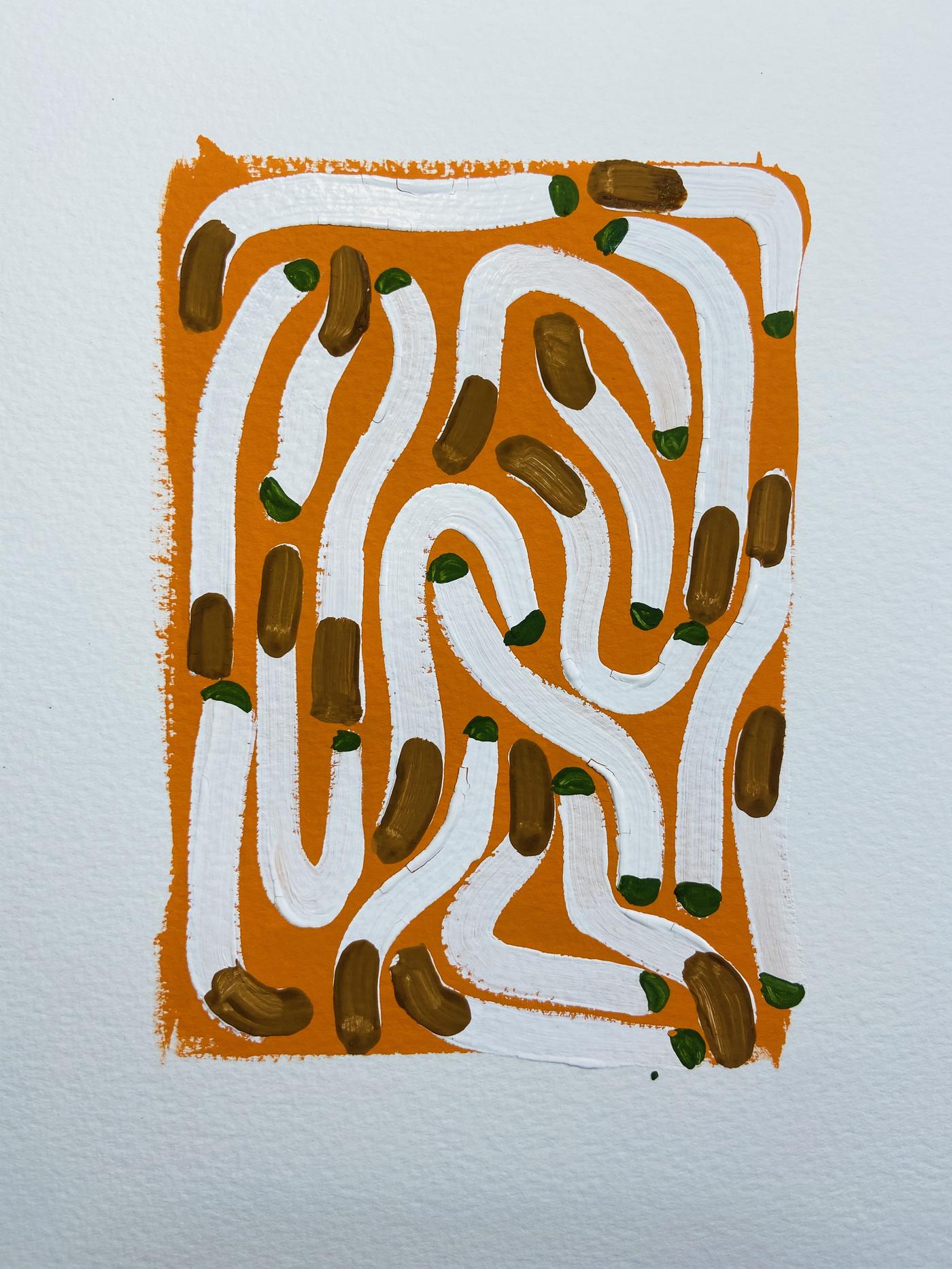 Anna Choutova - Cigarette Fever Dream 2 Goache on Paper21 cm x 15 cm