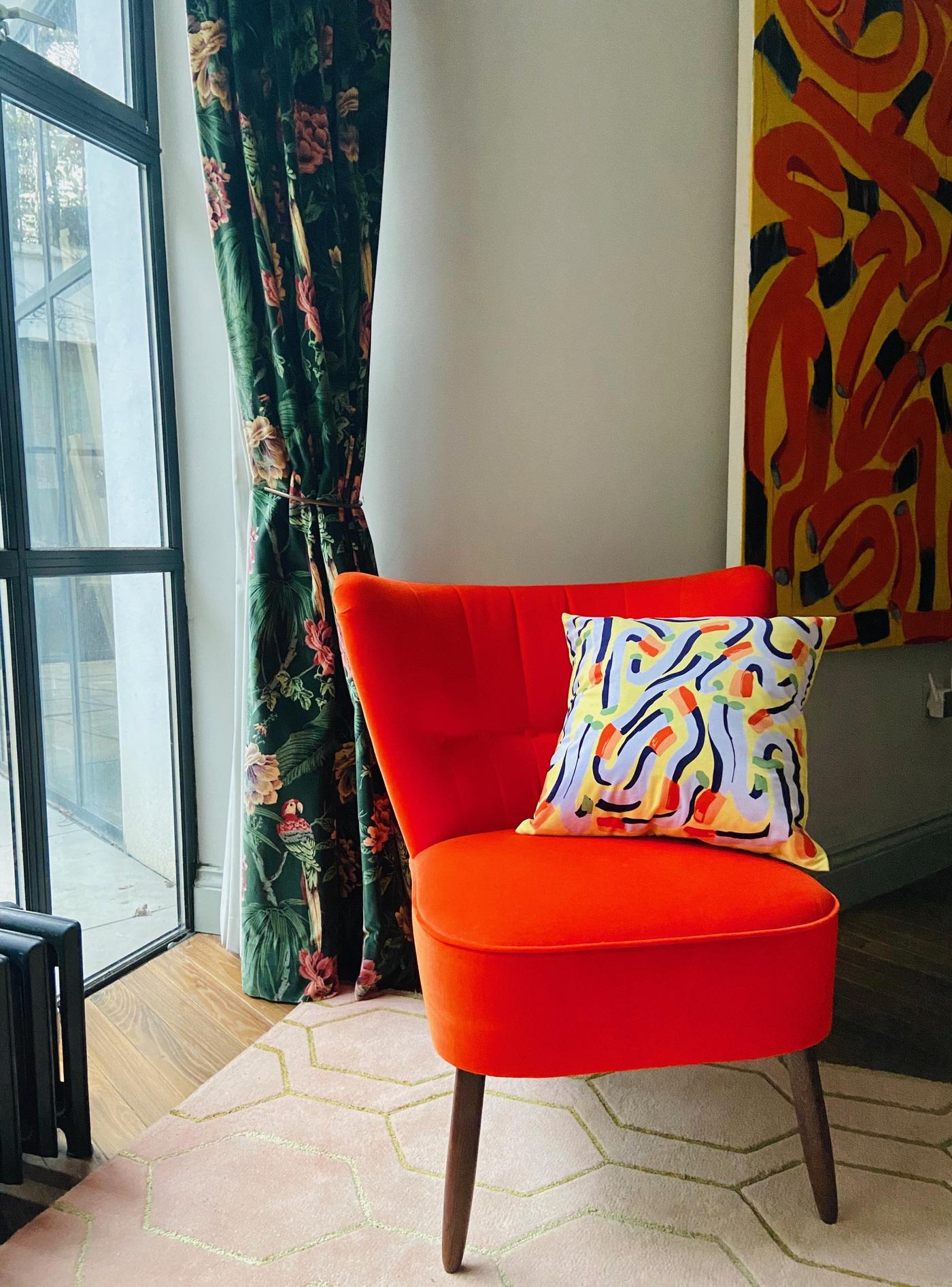 Anna Choutova - Yellow Cigarette Cushion Velvet Cover & Goose Down Pillow45 cm x 45 cm