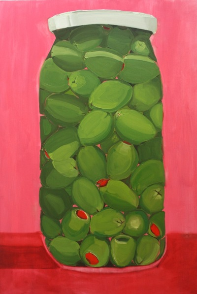 Anna Choutova - Olives Oil on Canvas180 cm x 120 cm •