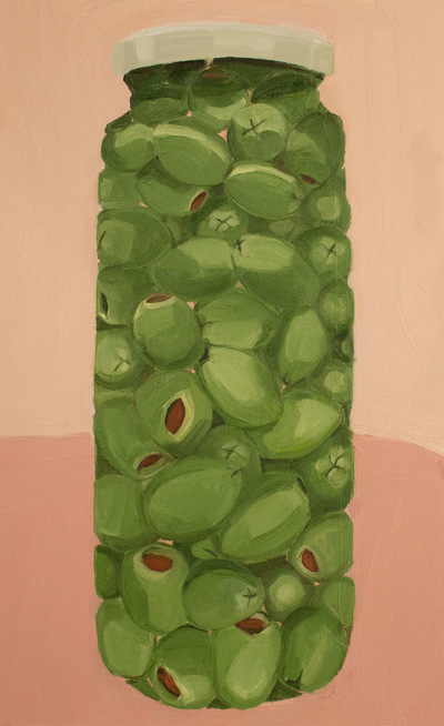 Anna Choutova - Tall Olives Oil on Canvas64 cm x 40 cm •