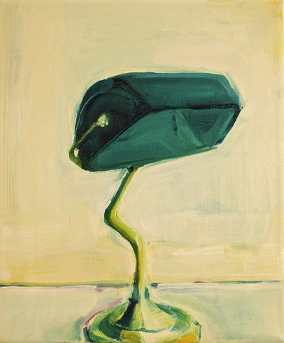 Anna Choutova - Green Lamp Oil on Canvas30 cm x 26 cm •