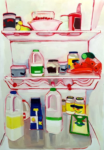 Anna Choutova - Warm Fridge Oil on Canvas160 cm x 100 cm •