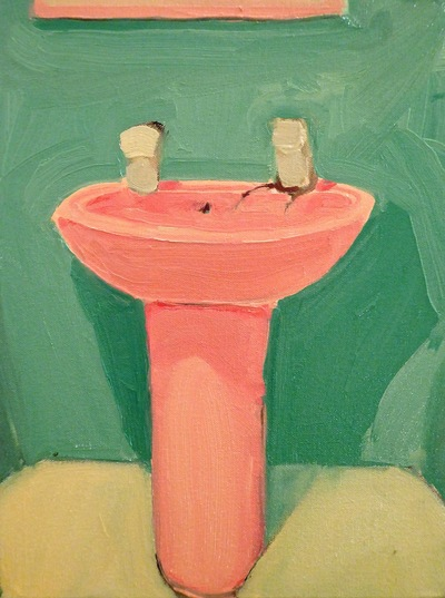 Anna Choutova - Sink the Pink Oil on Canvas40 cm x 30 cm •