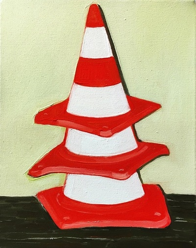 Anna Choutova - Fake Cones Oil on Canvas45 cm x 35 cm