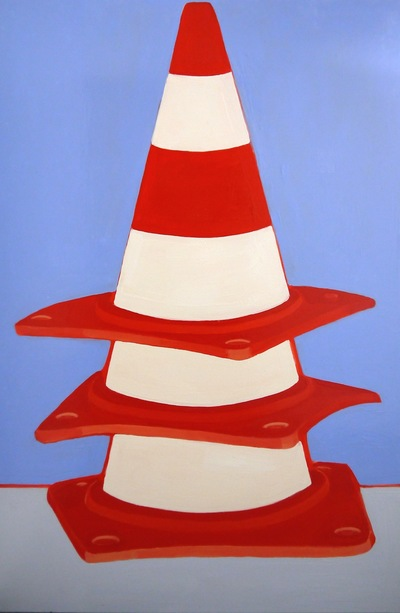 Anna Choutova - Three Cones Oil on Canvas152 cm x 100 cm
