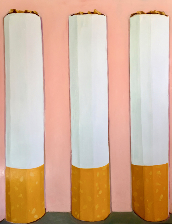 Anna Choutova - Fags Oil on Canvas 210 cm x 120 cm