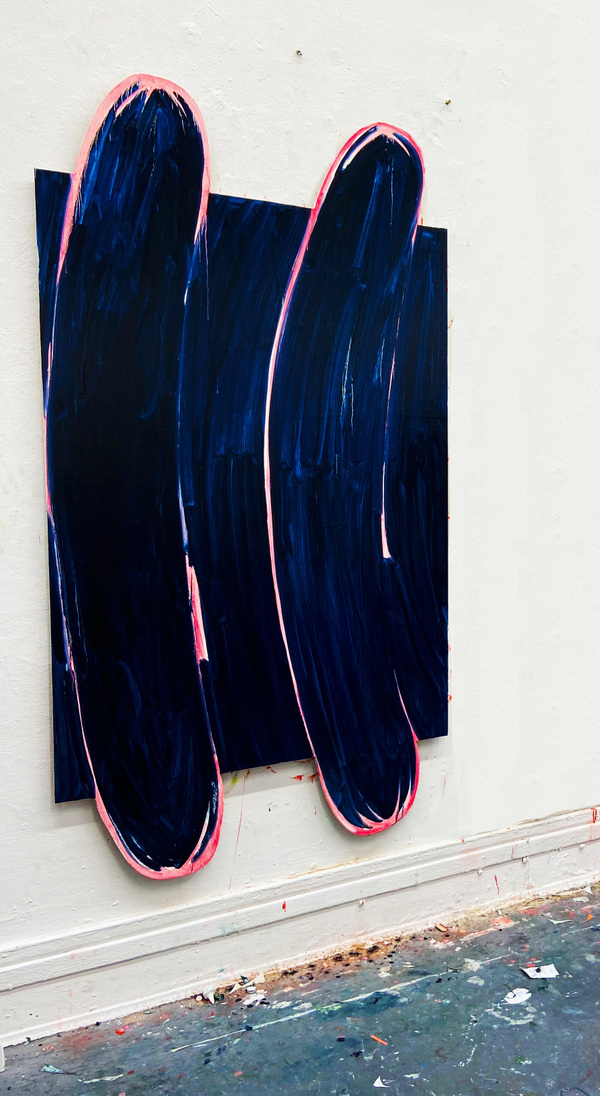 Anna Choutova - Well Hot Dog! Oil on Wood 210 cm x 120 cm