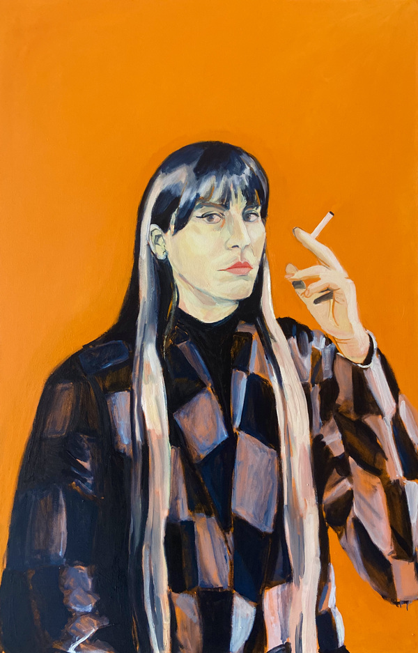 Anna Choutova - Portrait of Andrea Gomis Oil on Canvas140 cm x 90 cm