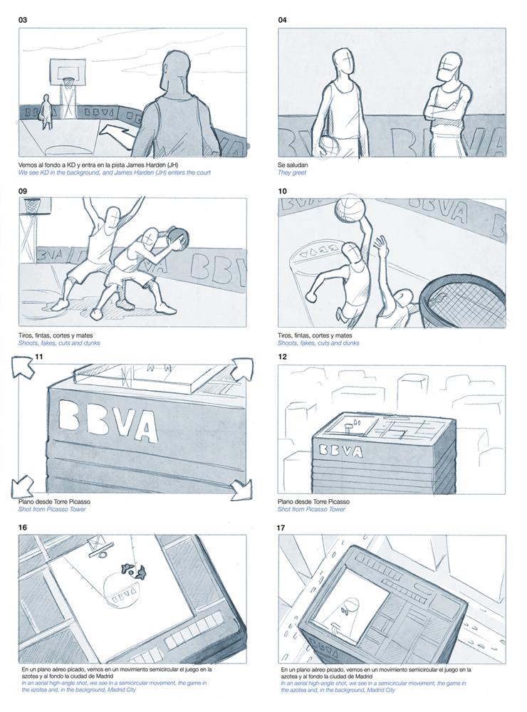 Jesus Delgado Illustration - Storyboard publicitario para la grabación de un spot del BBVA
