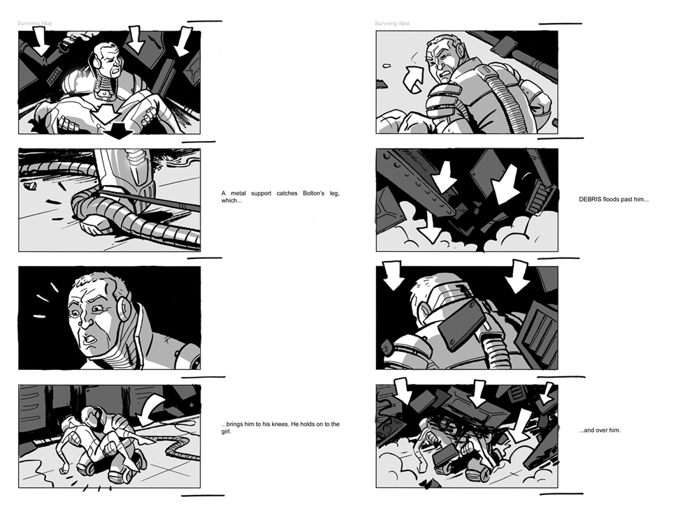 Jesus Delgado Illustration - Storyboard para la película Surviving Alba, de Newfound Planet Films