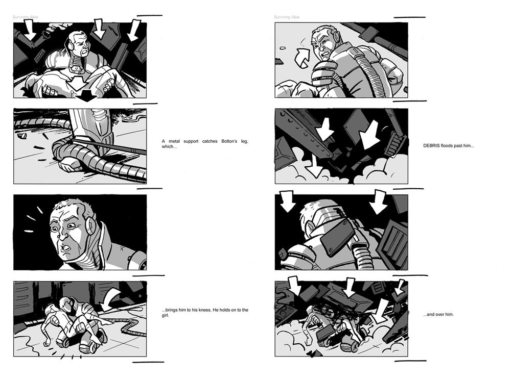 Jesus Delgado Illustration - Storyboard para la película Surviving Alba, de Newfound Planet Films