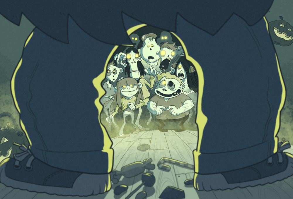 Jesus Delgado Illustration - Ilustraciones para Un verano de miedo, editado por SM