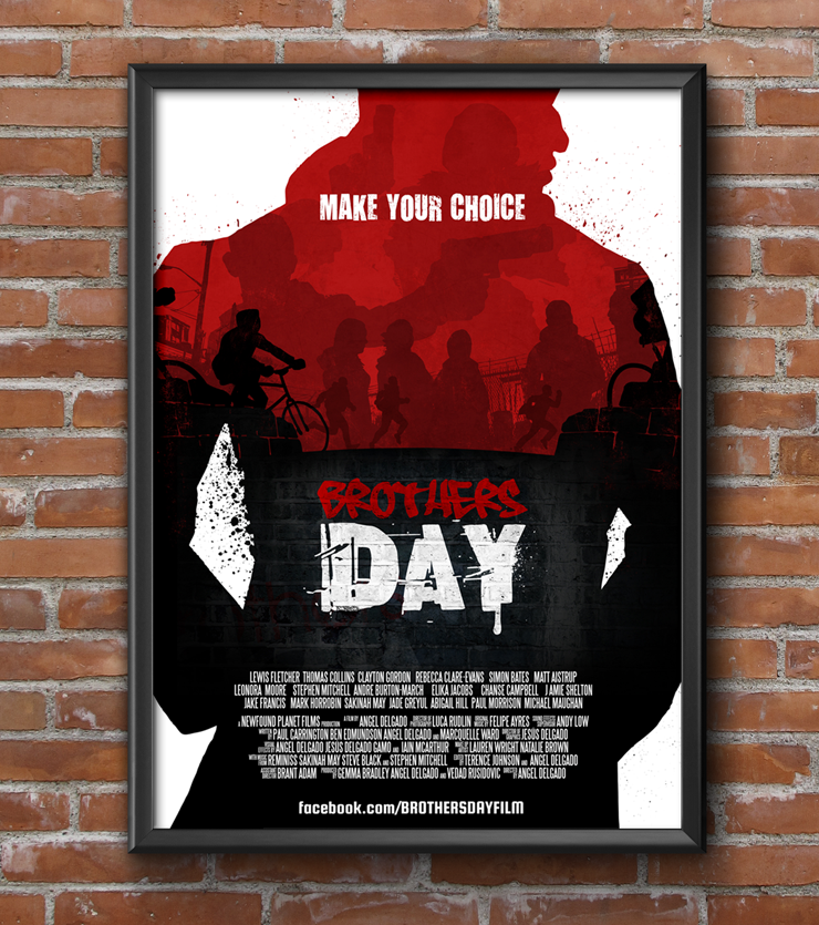 Jesus Delgado Illustration - Cartel y grafismo para la pelicula Brothers Day, de NewfoundPlanet Films