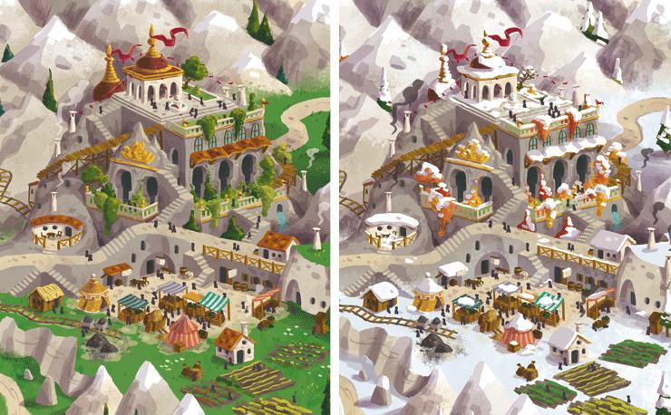 Jesus Delgado Illustration - Mapa para el juego Lands of Galzyr (en desarrollo), de Sami Laakso (Snowdale Design)