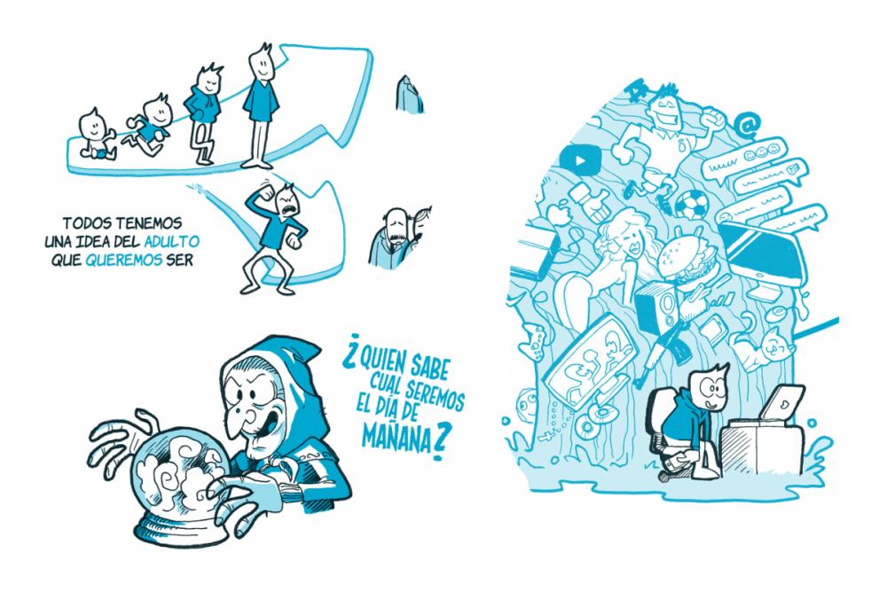 Jesus Delgado Illustration - Ejercicio de visual thinking: factores que afectan a nuestro desarrollo desde el bebé hasta el adulto