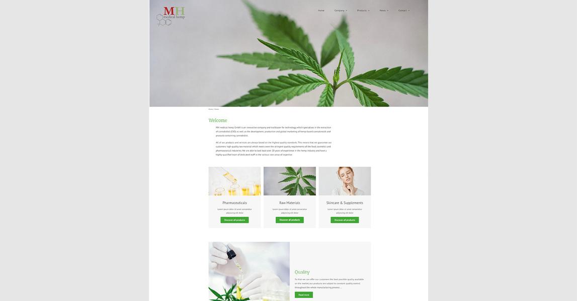 HANNA ZÄNKER - Medical Hemp, Website (wip)