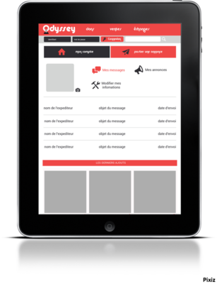 Ludovic Graphicbook - Page utilisateur (tablette).
