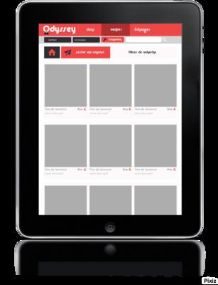 Ludovic Graphicbook - Page vente (connecté sur tablette).