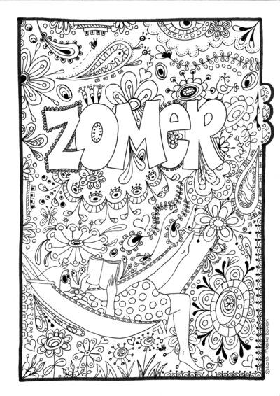 Maaike Boven - illustratie voor ZOMER 2014