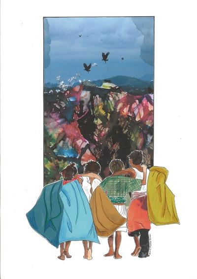 Maaike Boven - illustratie voor glossy IJM International Justice Mission 2015