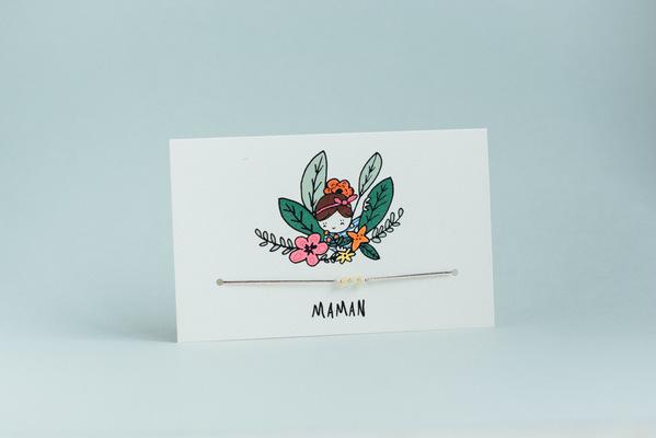 Mathilde Cabanas - Bracelet and card for your Mama/ Collaboration Sophie Ju