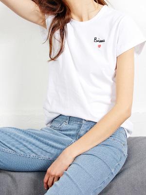 Mathilde Cabanas - Bisou embroidered shirt with Balzac Paris