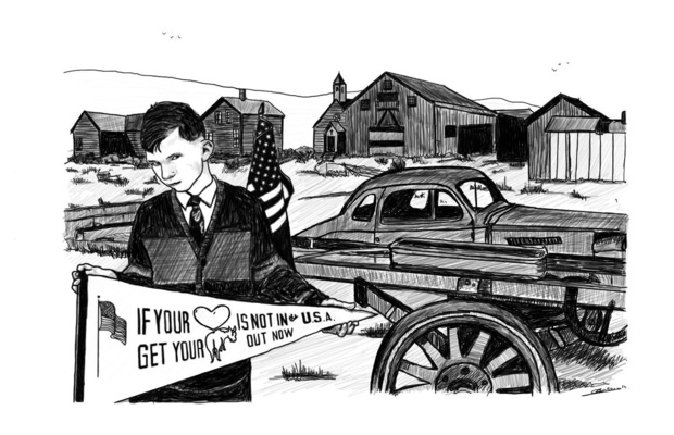 charlesbuissonpeintures - Série we love America. Dessin 1