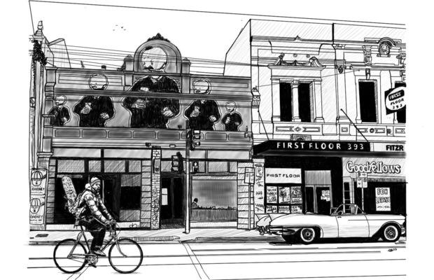 charlesbuissonpeintures - Série Melbourne. Dessin 2