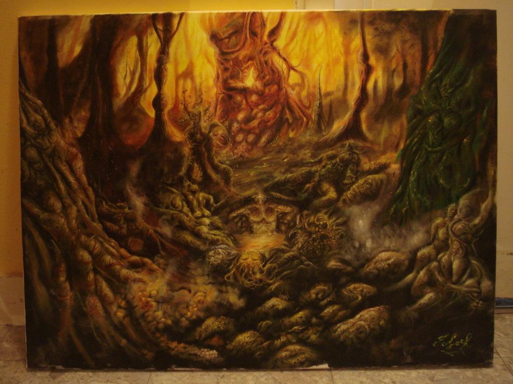 Toile du fantasme - Lubricité forestière (Fornication forest)