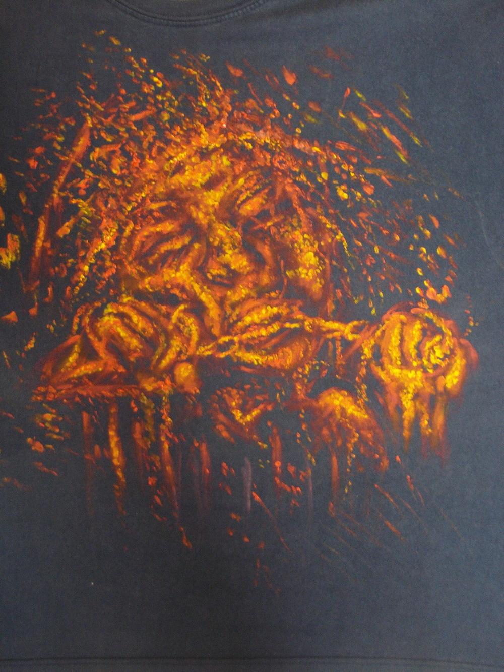 Toile du fantasme - Peinture sur textile