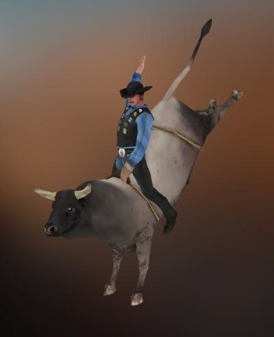 Jose Olivas- 3D art - Bullrider