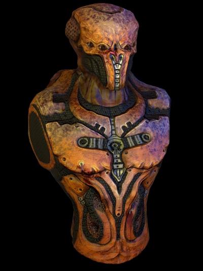 Jose Olivas- 3D art - Alien bust