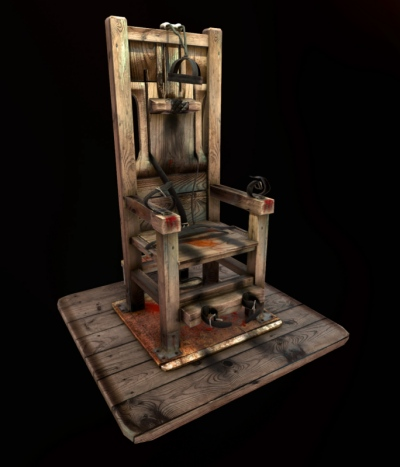 Jose Olivas- 3D art - Electric chair