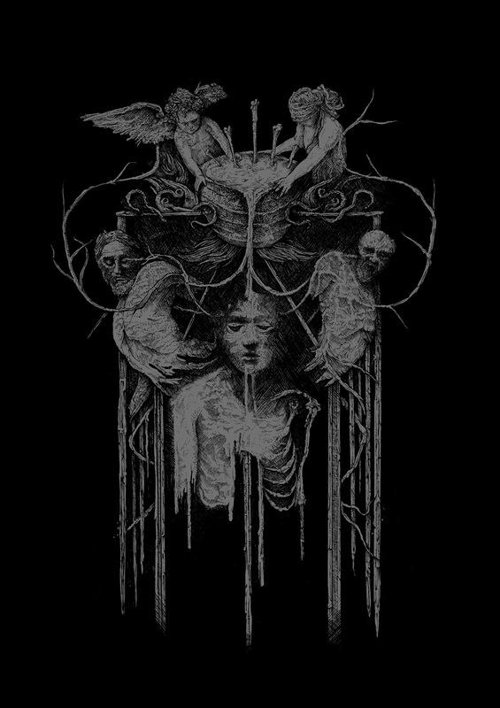 DEHN SORA - Deathspell Omega Synarchy t-shirt. 2017
