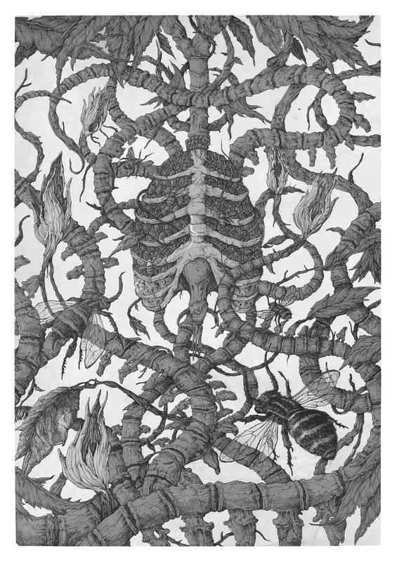 DEHN SORA - Hive (OTB Fest Poster illustration). 2016
