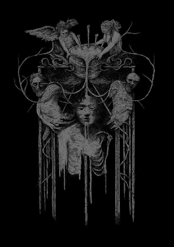 DEHN SORA - Deathspell Omega - Synarchy shirt design 2017