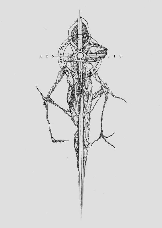 DEHN SORA - Deathspell Omega - Kénôse shirt design 2018