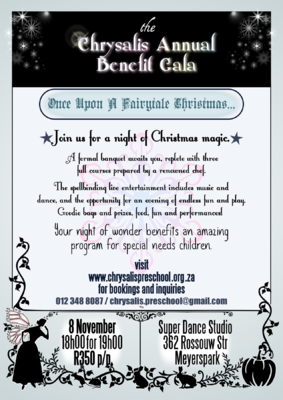 The Etceterist - Chrysalis is a special needs pre-school for which I do pro-bono work on occasion. This was for their year-end gala and functioned as a poster and an invite.