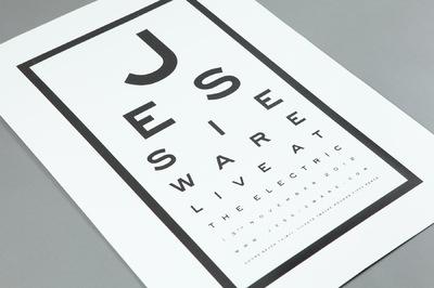 Studio Moross - Jessie Ware Eyechart Poster