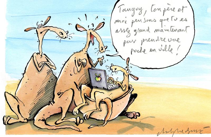 christophe besse - Le syndrome Tanguy est archi fréquent chez les kangourous... il fallait en parler. Paru dans un dossier droit de Notre Temps.