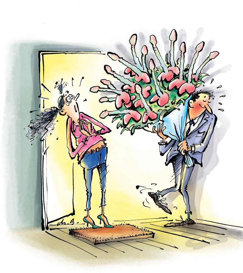 Offrir des fleurs humour for Bouquet de fleurs humour